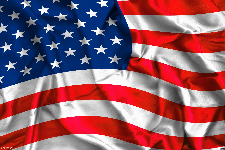 Waving Colorful Usa Flag On Silk Background Boxist Com Photos Portfolio